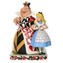Disney Traditions Jim Shore Alice in Wonderland and Queen of Hearts Figure