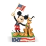 "Disney Traditions Jim Shore's Mickey Mouse and Pluto ""Banner Day"" Statue"