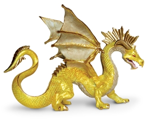 Golden Dragon Vinyl Statue