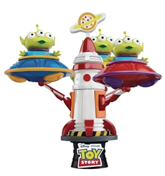 Disney Toy Story Alien UFO Spin Rocket Ride D-Stage Statue