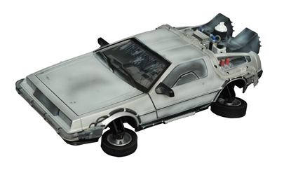 Back To The Future II Iced Hover-mode Delorean Light-up Vehicle