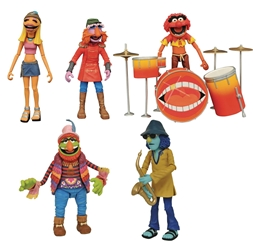 SDCC 2020 Exclusive The Muppets Dr. Teeth and the Electric Mayhem Band Vinyl Figure Set with Stage
