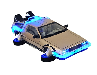 Back To The Future II Hovering DeLorean Time Machine Light-up Vehicle