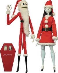 cc92964c6a609 Nightmare Before Christmas Santa Jack and Sally Coffin 2-Pack