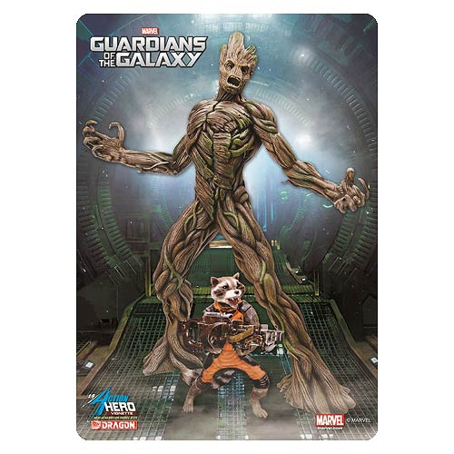Guardians of the Galaxy Groot with Rocket Raccoon Vignette