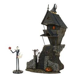 Disney Nightmare Before Christmas Jack Skellingtons Light-up House Statue