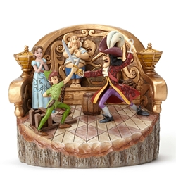 "Disney Traditions Jim Shore Peter Pan ""Daring Duel"" Vignette Figure"