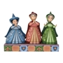 "Disney Traditions Sleeping Beauty Three Fairies ""Royal Guests"" Figure"