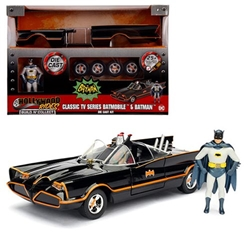 Batman Classic 1966 1:24 scale Batmobile die-cast vehicle kit with figure