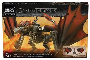 Game of Thrones Daenerys & Drogon Mega Construx Set