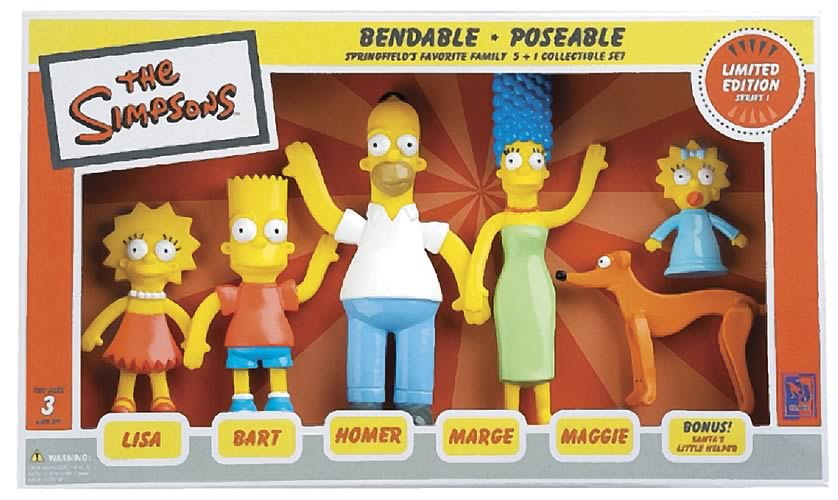 Simpsons Limited Edition Bendable Family Figure Set