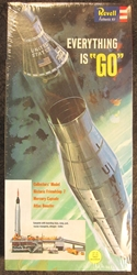 "NASA 1:110 scale ""Everything is Go"" Mercury Capsule and Atlas Booster Plastic Model Kit"