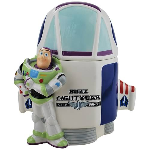 Disney Toy Story Buzz Lightyear Spaceship Ceramic Cookie Jar
